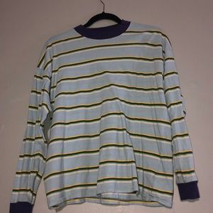 Urban Outfitters Striped Long Sleeve Shirt